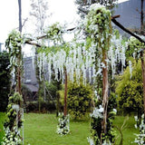 3.18 Feet Artificial Silk Wisteria Vine Ratta Hanging Flower Wedding Decor (2 Colors)