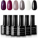 Shellac UV LED Gel Nail Polish, Pastel Set - 6 bottles - Black Friday Cyber Monday - Free Shipping