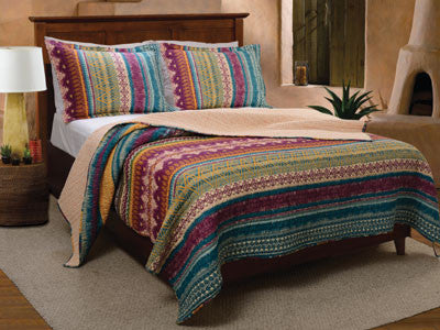 Southwest Bohemian Style Bedding Boho Quilt Set Twin/Full/Queen/King 3 Piece Set - Free Shipping