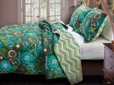 Tiki Hut Bohemian Style Quilt Bedding Boho Full/Queen Size 3 Piece Set - Free Shipping