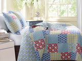 Kendall Concentric Bohemian Quilt Bedding Boho Quilt Set Full/Queen/King 3 Pc- Free Shipping