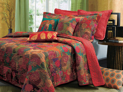 Jewel Fruit Bohemian Bonus Quilt Bedding Boho Bed Set Twin/Full/Queen/King 5 Pc- Free Shipping