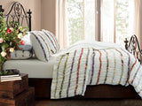 Bella Ruffel Duvet King Size Bedding 3 Piece Set - Free Shipping