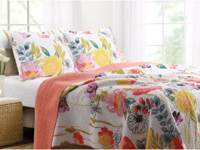 Watercolor Dream Quilt Set Twin/Full/Queen/King Size 3 Piece Bed Set - Free Shipping
