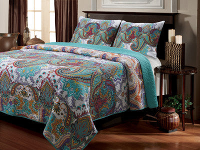 Nirvana Quilt Bedding Twin/Full/Queen/King Size 3 Piece Set - Free Shipping
