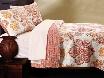 Tuscany Style Bohemian Quilt Bedding Boho Twin/Full/Queen Size 3 Piece Set - Free Shipping