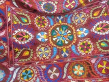 Kaleidoscope Suzani Bohemian Kantha Quilt 3 PC Boho Chic Bed Set 2 Pillow Cases - Free Shipping