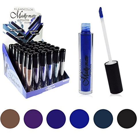 Lipstick Set of 6 Madly MATTE Lip Gloss Makeup Set #6 - Free Shipping