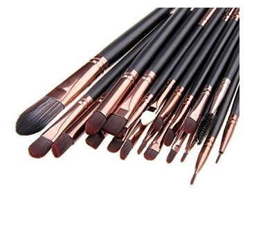 20 Pc Pro Makeup Set Cosmetic Brushes - Free Shipping
