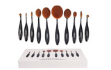Professional Soft Oval Toothbrush Makeup Brush Sets Foundation Brushes Cream
