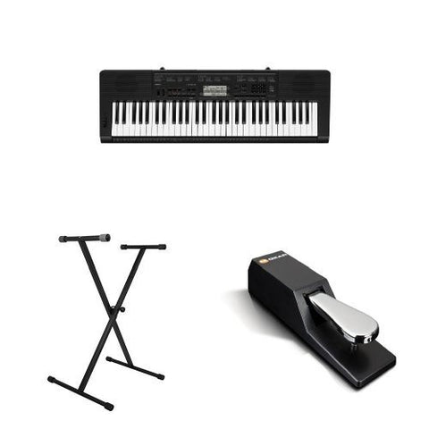 61-Key Touch Sensitive Personal Piano Keyboard with Pitch Bend Wheel and Power Supply