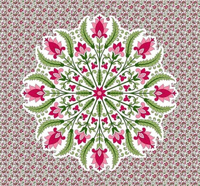 Pink Floral Bohemian Tapestry Mandala Wall Hippie Boho Beach Decor - Free Shipping