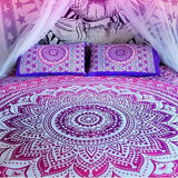 Purple Ombre Mandala Bohemian Tapestry Queen Size Hippie Wall Hanging Home Decor - Free Shipping