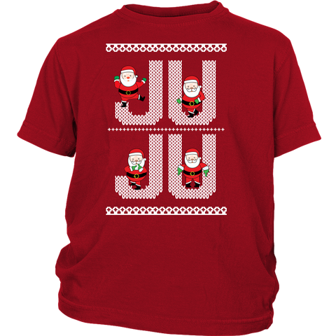 Ju Ju On That Beat White Santa Ugly Christmas Sweater Design - Kids Shirt