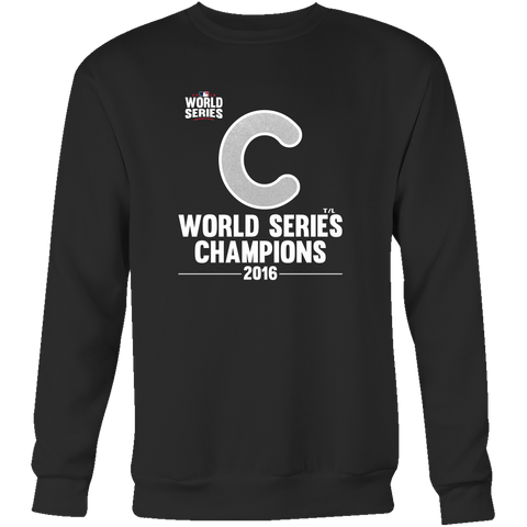 2016 World Series Champions Chicago Cubs MLB Crewneck Sweatshirt - Free Shipping