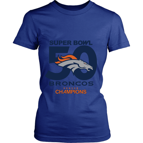 Denver Broncos SuperBowl 50 Championship Collection v3 - District Made Womens Shirt- Free Shipping