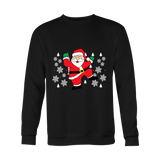 Hit Dem Folks White Santa Ugly Christmas Holiday Sweater - Free Shipping