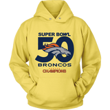 Denver Broncos SuperBowl 50 Championship Collection v3 - Unisex Hoodie - Free Shipping