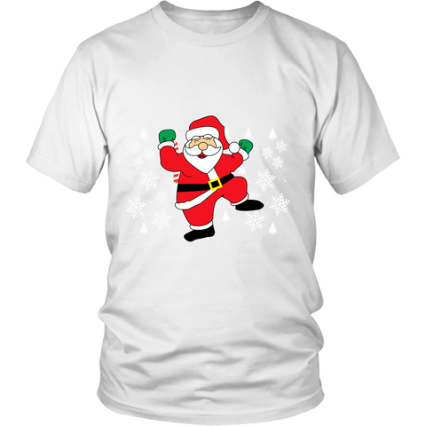 Hit Dem Folks White Santa Ugly Christmas Sweater Unisex Shirt - Free Shipping