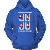Ju Ju On That Beat Black Santa Ugly Christmas Sweater Design- Unisex Hoodie