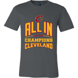 Cleveland Cavaliers ALL IN 2016 NBA Champions - Canvas Mens Shirt - Free Shipping