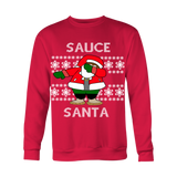 Black Sauce Santa Ugly Christmas Sweater - Unisex