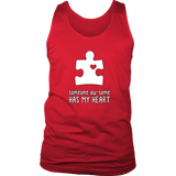 Someone Au-Some Has My Heart - Autism Awareness District Mens Tank - Free Shipping