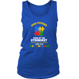 Autism Strong Moms Autism Awareness District Womens Tank - Free Shipping
