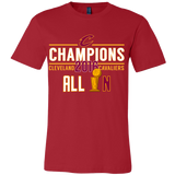 Cleveland Cavaliers All In With NBA Trophy 2016 NBA Champions - Canvas Mens Shirt - Free Shipping