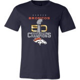 Denver Broncos SuperBowl 50 Championship Collection v1 - Canvas Mens Shirt - Free Shipping