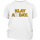 Klay Thompson Shirt - Golden State Warriors - Klay A11 Day - District Youth Shirt - Free Shipping