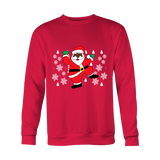 Hit Dem Folks Santa Unisex Ugly Christmas Sweater - Free Shipping