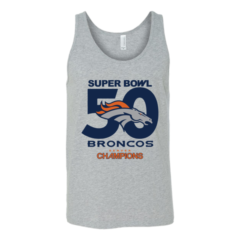 Denver Broncos SuperBowl 50 Championship Collection v3 - Canvas Unisex Tank - Free Shipping