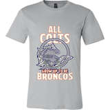Denver Broncos - All Colts Grow Up to Be Super Broncos - Canvas Mens TShirts