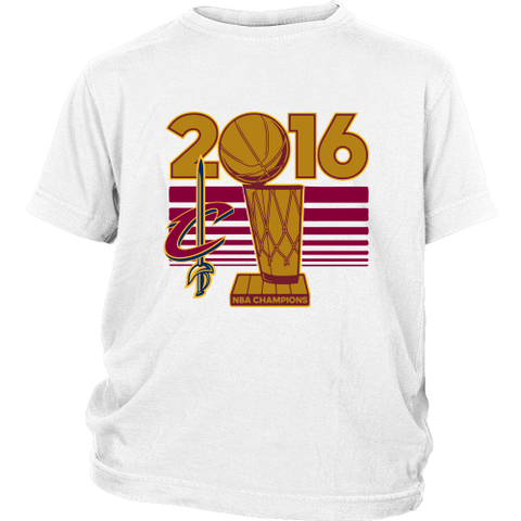 Cleveland Cavaliers 2016 NBA Champions NBA Finals Trophy - District Youth Shirt - Free Shipping