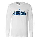 2016 NCAA Villanova Wildcats Division 1 Champions - Canvas Long Sleeve Shirt Double Sided - Free Shipping