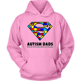 Autism Super Dad Mens Hoodie for Autism Awareness - Free Shipping