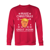 Donald Trump Make Christmas Great Again Ugly Christmas Sweater Design Unisex