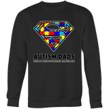 Autism Super Dad Mens Crewneck Sweatshirt for Autism Awareness - Free Shipping