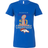 Denver Broncos SuperBowl 50 Championship Shirt Collection - Bella Womens Shirt  - Free Shipping