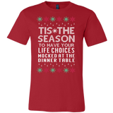 Tis The Season Mocked Life Choices Ugly Christmas Sweater Mens Shirt - Free Shipping
