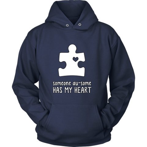 Someone Au-Some Has My Heart - Autism Awareness Hoodie - Free Shipping