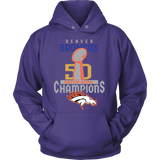 Denver Broncos SuperBowl 50 Championship Shirt Collection - Unisex Hoodie - Free Shipping