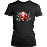 Hit Dem Folks White Santa Ugly Christmas Sweater Womens Shirt- Free Shipping