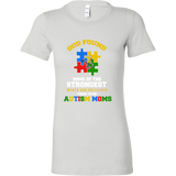 Autism Strong Moms Autism Awareness Bella Womens Shirt - Free Shipping
