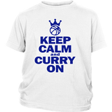 Golden State Warriors Keep Calm and Curry on - Steph Curry District Youth Shirt - Free Shipping