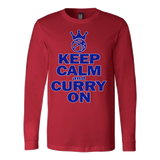 Golden State Warriors Keep Calm and Curry on - Steph Curry Canvas Long Sleeve Shirt - Free Shipping