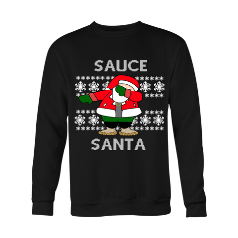 White Sauce Santa Ugly Christmas Sweater - Unisex