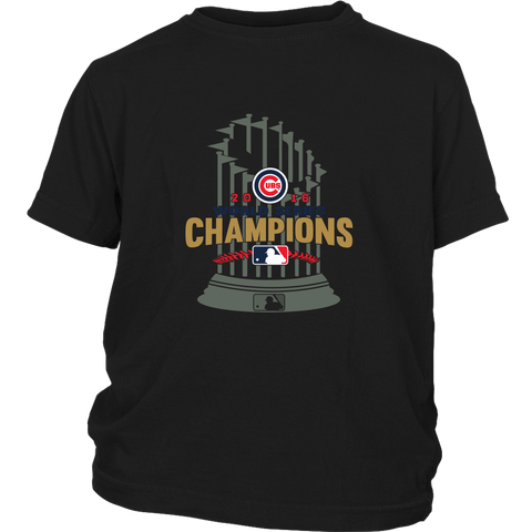 2016 World Series Champions Chicago Cubs MLB Cubs World Series Champions Game Youth Shirt - Free Shipping