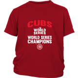 2016 World Series Champions Chicago Cubs MLB Cubs World Series Champions Youth Shirt - Free Shipping